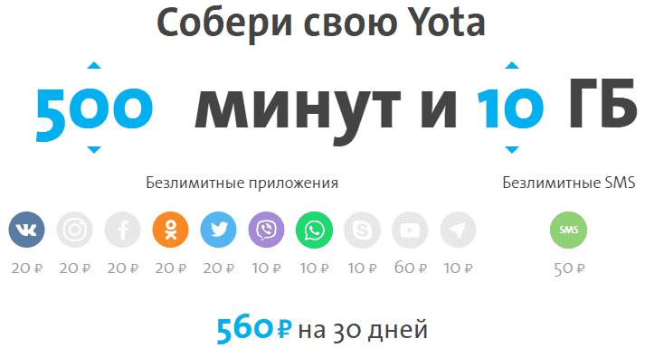 Тарифы Йота Чита и Забайкальский край в 2019 году на мобильную связь для телефона, планшета и компьютера