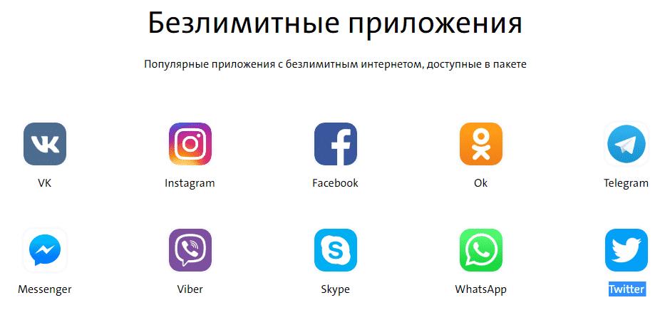 приложения yota с бесплатным доступом в интернет
